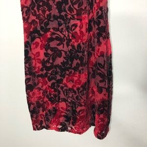 Somedays Lovin Dresses - New Somedays Lovin Red / Black Velvet Floral Dress